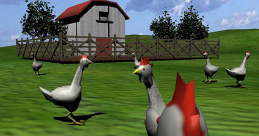 駭客任務「雞」專用版?讓雞以為自己生活在野外的 VR 裝置…這也太獵奇啦!