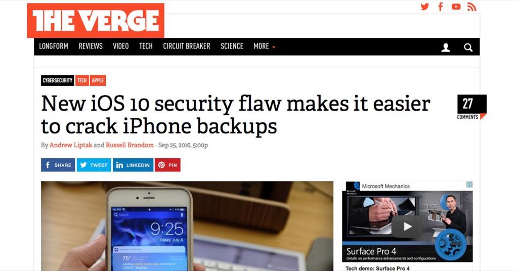駭客宣稱 iOS 10 破解速度更快更容易?先搞清楚狀況再來恐慌吧