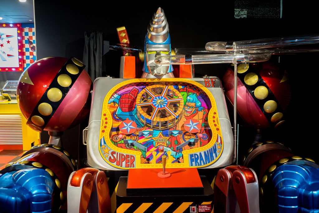 全世界獨一無二的扭蛋機,閃閃發亮的佛朗基!(東京鐵塔海賊王展)