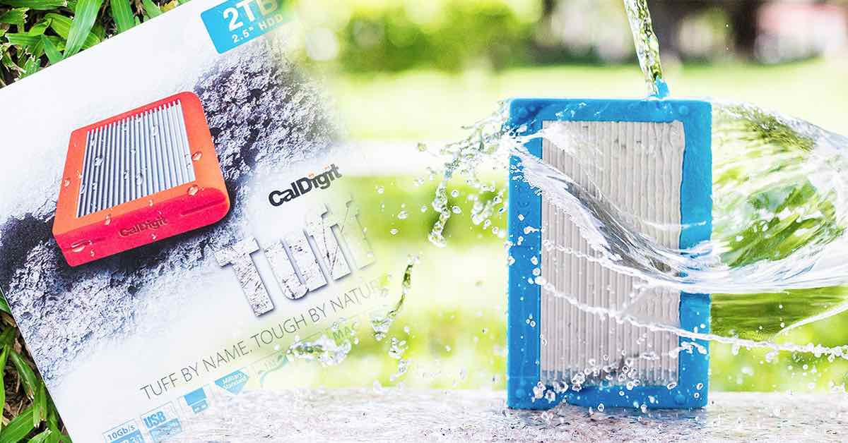 CalDigit Tuff 2TB 防水防塵外接硬碟評測:再也不怕把外接硬碟弄壞囉~