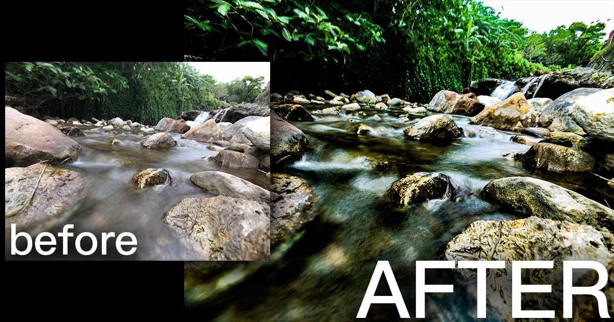 iPhone 也能拍流水美照!北投溫泉公園溪流瀑布輕鬆拍~